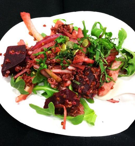 Beet, fennel, quinoa salad.