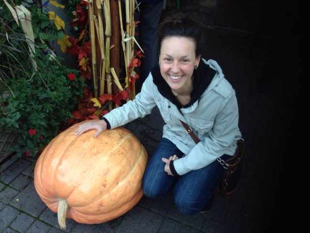 Random giant pumpkin, of course I want a photo with you.
