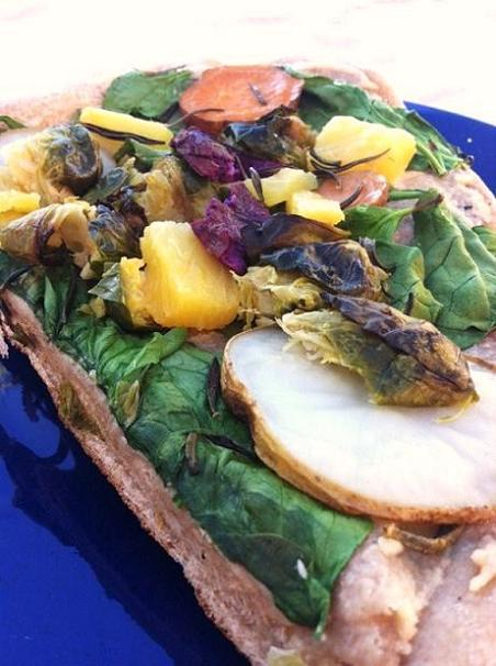 No cheese necessary for this vegan friendly grilled pizza!