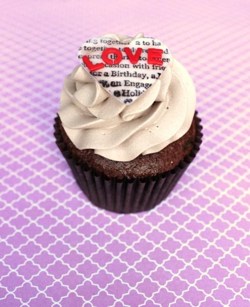 My Valentines/Birthday cupcake!