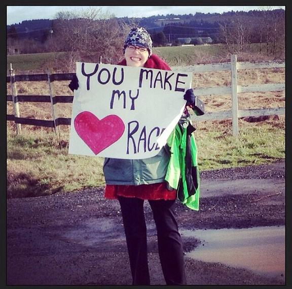 Actual photo from the race I found on IG! This lady was great.