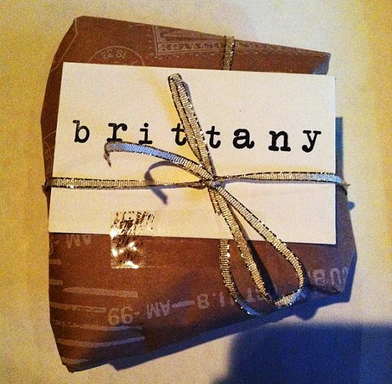 Personalized/hand stamped gift. Swoon.