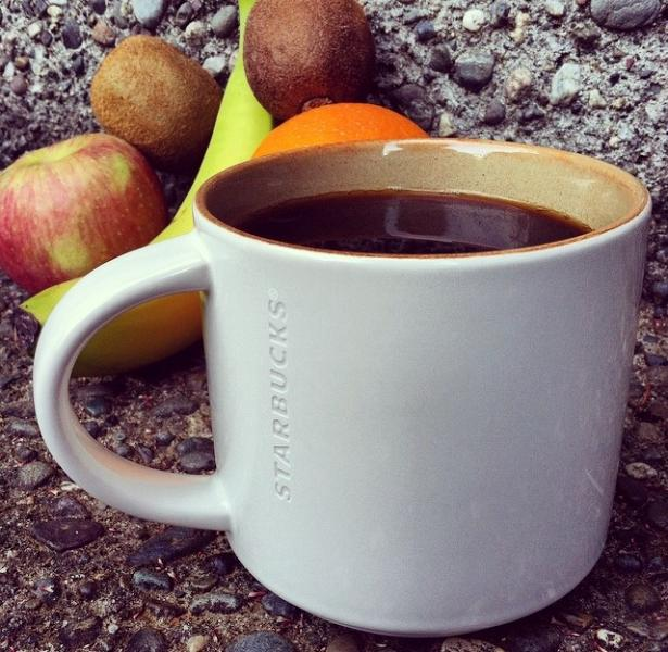 Summer means lots of fruit and a fresh white mug.