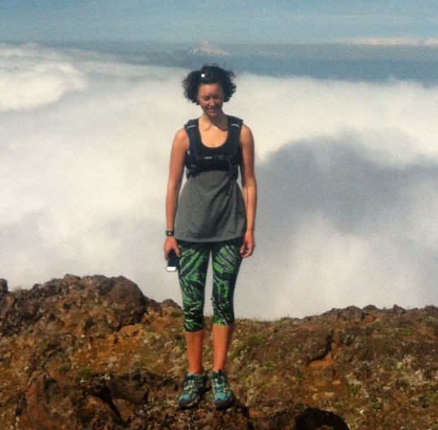 This is what I look like at 6280 ft, about the clouds, and with the sun in my face.
