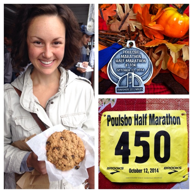 I'd also like to thank my giant spaghetti feast and this Texas sized cookie for my prerace fuel.