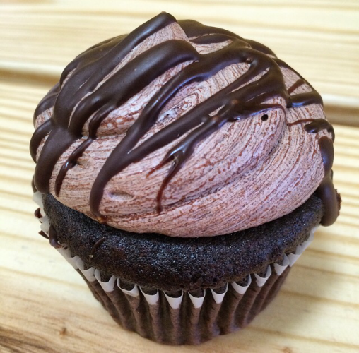 Triple chocolate cupcake aka